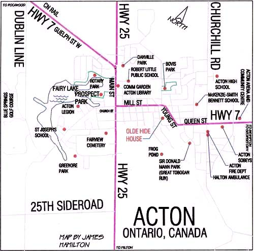 locations of interest in Acton