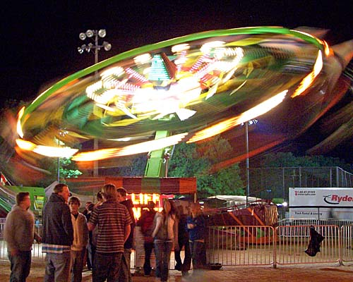 2007 Acton Ontario Fall Fair. A ride spins in the night