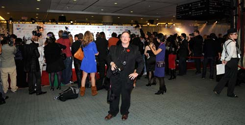 Photographer James Hamilton at the media red carpet for the 2008 Fashion Cares presents Fashion sCares