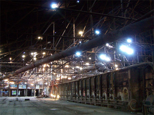 Toronto Don Valley Brickworks. Inside brick factory.