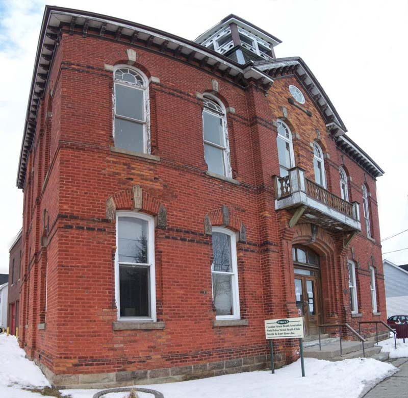Acton Ontario's old town hall - photo made using autostitch