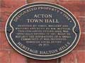 Acton old town hall historic plaque
